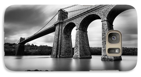 Menai Suspension Bridge Galaxy S7 Case by Dave Bowman