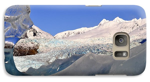 Galaxy Case featuring the photograph Mendenhall Glacier Refraction by Cathy Mahnke