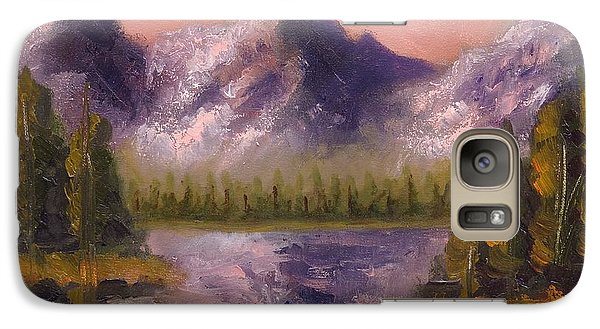 Galaxy Case featuring the painting Mental Mountain by Jason Williamson