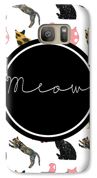 Cat Galaxy S7 Case - Meow by Pati Photography
