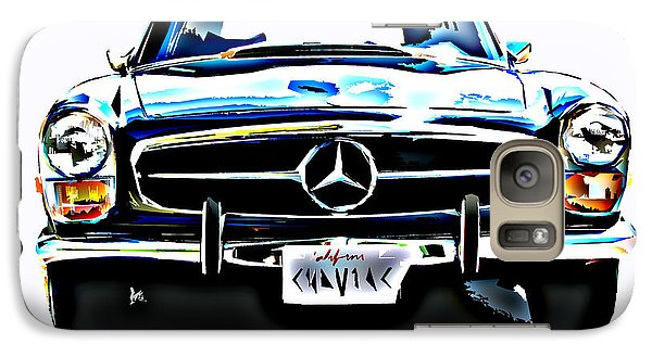 Galaxy Case featuring the photograph Mercedes Benz 280sl Roadster by Samuel Sheats
