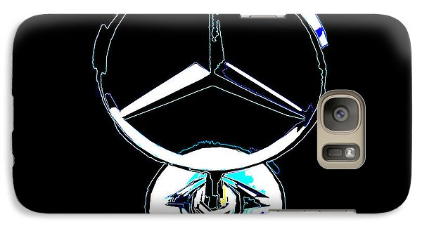 Galaxy Case featuring the photograph Mercedes Logo 2 by Samuel Sheats