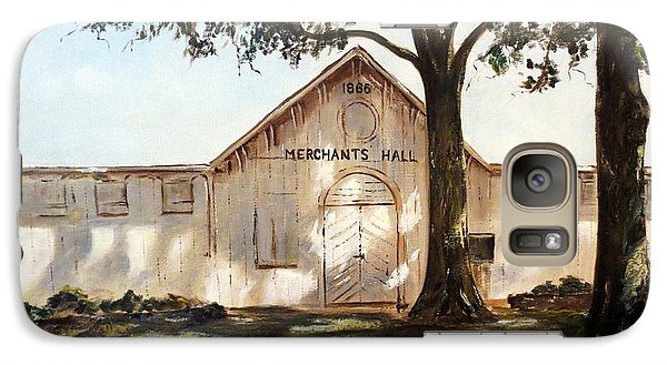 Galaxy Case featuring the painting Merchants Hall by Lee Piper