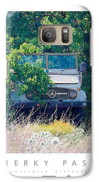 Galaxy Case featuring the digital art Merky Past Beautifully Distressed Poster by David Davies
