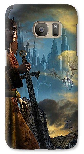 Galaxy Case featuring the digital art Merlin by Shadowlea Is