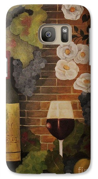 Galaxy Case featuring the painting Merlot For The Love Of Wine by John Stuart Webbstock