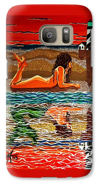 Galaxy Case featuring the painting Mermaid Day Dreaming  by Jackie Carpenter