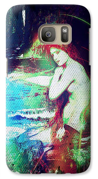 Galaxy Case featuring the digital art Mermaid Of The Tides by Absinthe Art By Michelle LeAnn Scott