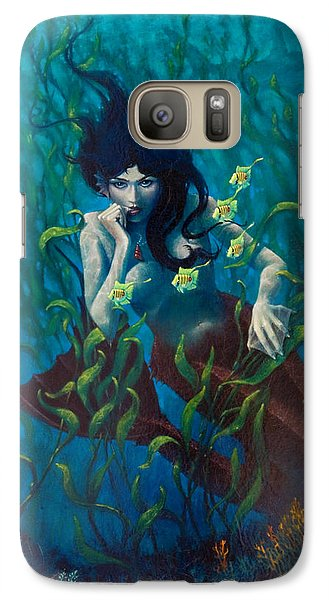 Galaxy Case featuring the painting Mermaid by Rob Corsetti