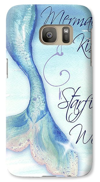 Mermaid Galaxy S7 Case - Mermaid Tail I (kisses And Wishes) by Elizabeth Medley