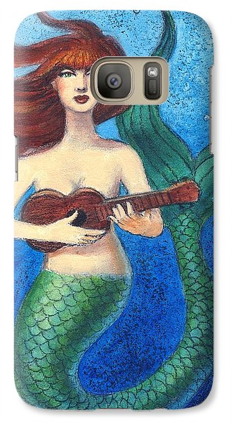 Galaxy Case featuring the painting Mermaid Ukulele Angels by Sue Halstenberg