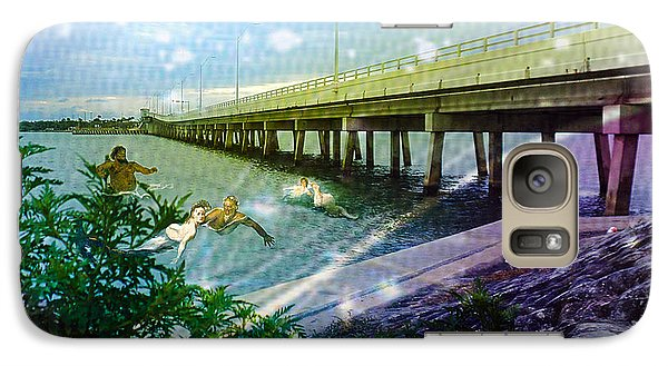 Galaxy Case featuring the digital art Mermaids In Indian River by Megan Dirsa-DuBois