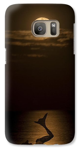 Galaxy Case featuring the photograph Mermaid's Moonsong by Paula Porterfield-Izzo