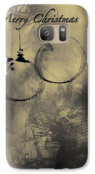 Galaxy Case featuring the mixed media Merry Christmas Card by Peter v Quenter