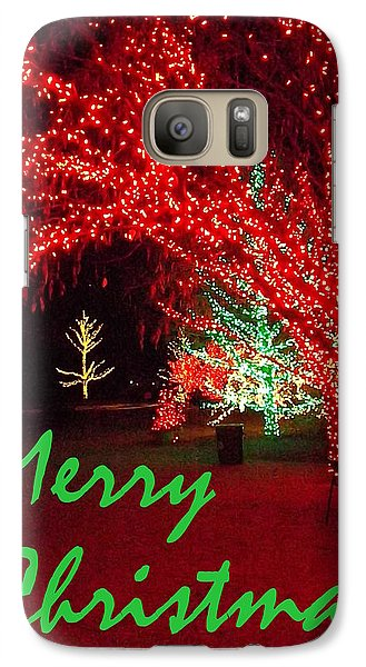Galaxy Case featuring the photograph Merry Christmas by Darren Robinson