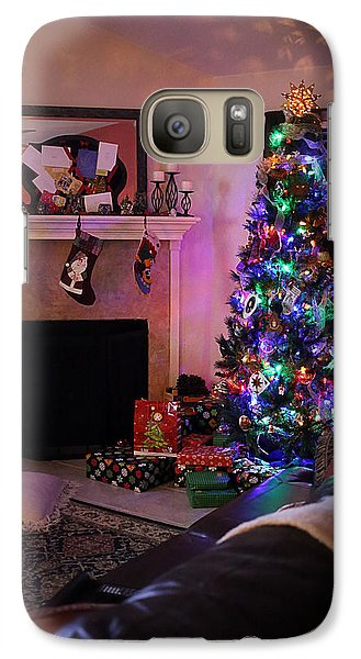 Galaxy Case featuring the photograph Merry Christmas From My Home To Yours by Trish Mistric