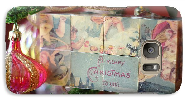 Galaxy Case featuring the photograph Merry Christmas Greeting by Suzanne Powers