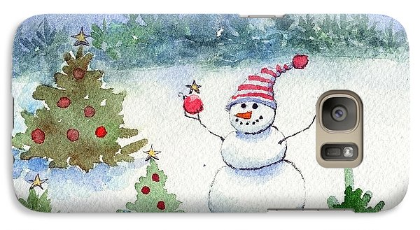 Galaxy Case featuring the painting Merry Christmas by Katherine Miller
