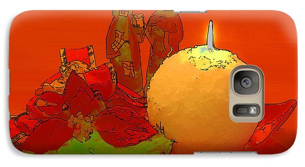Galaxy Case featuring the photograph Merry Christmas by Teresa Zieba