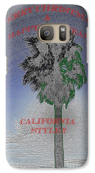 Galaxy Case featuring the photograph Merry Xmas And Happy Holidays by Gary Brandes
