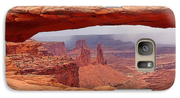 Galaxy Case featuring the photograph Mesa Arch In Canyonlands National Park by Mitchell R Grosky