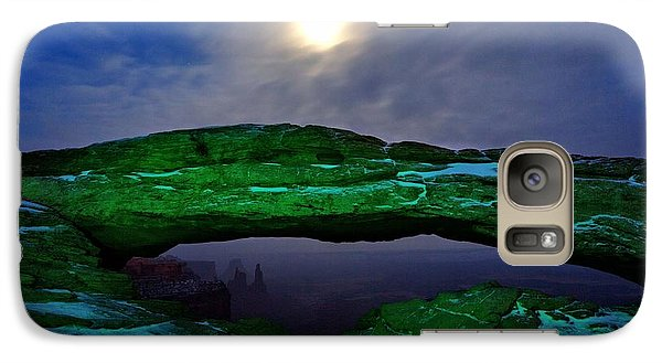 Galaxy Case featuring the photograph Mesa Arch In Green by David Andersen
