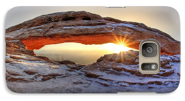 Galaxy Case featuring the photograph Mesa Sunburst by David Andersen