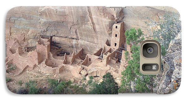 Galaxy Case featuring the photograph Mesa Verde Colorado Cliff Dwellings 1 by Richard W Linford