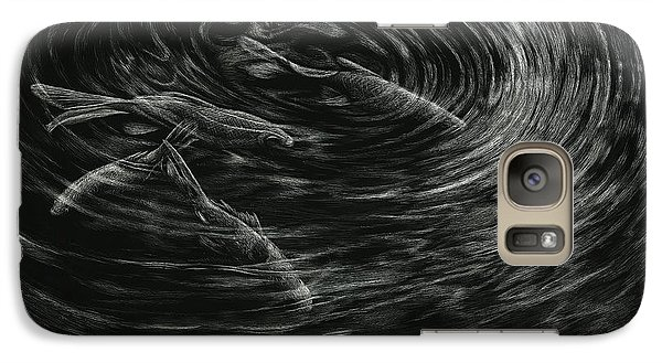 Galaxy Case featuring the drawing Mesmerized by Sandra LaFaut