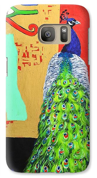 Galaxy Case featuring the painting Messages by Ana Maria Edulescu