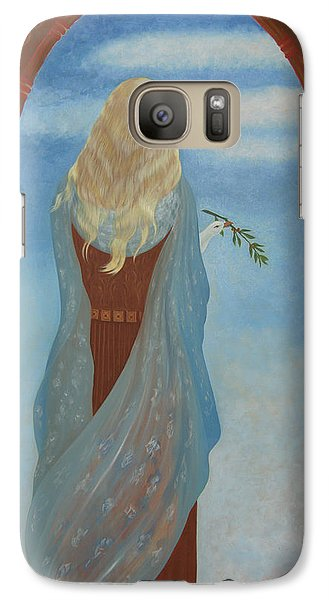 Galaxy Case featuring the painting Messenger by Tone Aanderaa