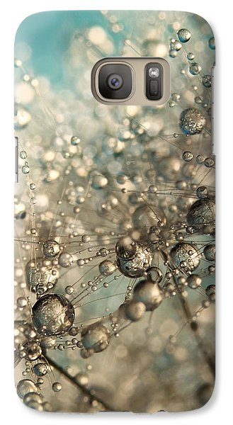 Galaxy Case featuring the photograph Metal Blue Dandy Sparkle by Sharon Johnstone