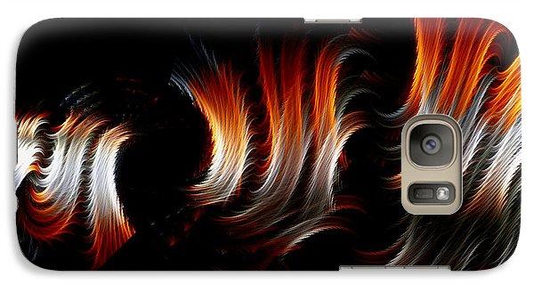 Galaxy Case featuring the digital art Metallic Swirls by Lea Wiggins