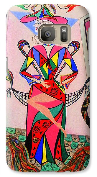 Galaxy Case featuring the painting Eleonore Sweet 16th by Marie Schwarzer