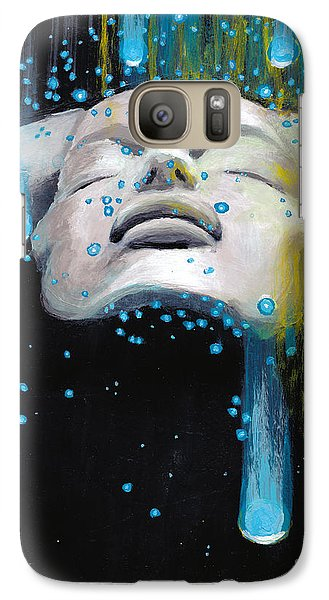 Galaxy Case featuring the painting Meteor Shower by Denise Deiloh