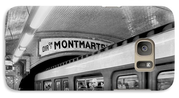 Galaxy Case featuring the photograph Metro At Montmartre. Paris by Jennie Breeze