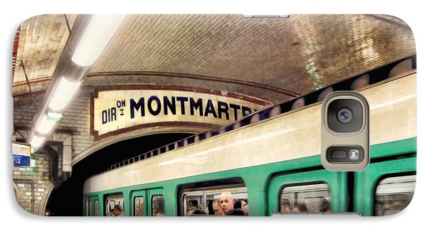 Galaxy Case featuring the photograph Metro To Montmartre. Paris   by Jennie Breeze