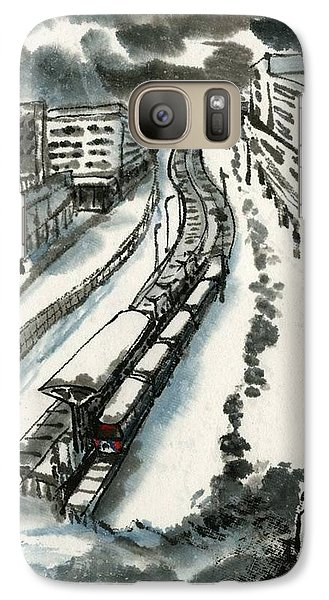 Galaxy Case featuring the painting Metro Train At Central Wester-end by Ping Yan