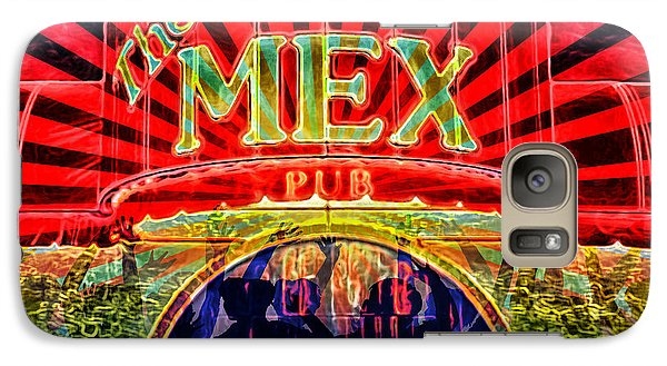 Galaxy Case featuring the digital art Mex Party by Richard Farrington