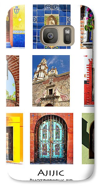 Galaxy Case featuring the photograph Colorful Mexican Doors, Ajijic Mexico - Travel Photography By David Perry Lawrence by David Perry Lawrence