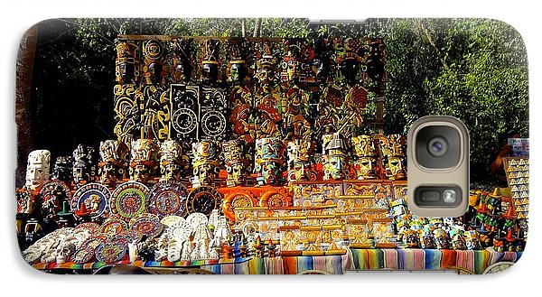 Galaxy Case featuring the photograph Mexican Market  by Sarah Mullin