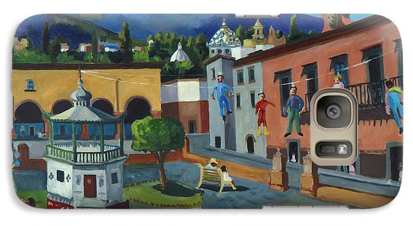 Galaxy Case featuring the painting Mexican Memories Of San Miguel by Linda Novick