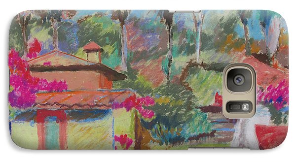Galaxy Case featuring the painting Mexican Spa by Linda Novick
