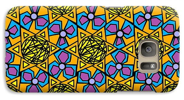 Galaxy Case featuring the digital art Mexican Sun / African Violet by Elizabeth McTaggart