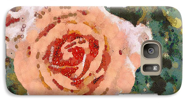Galaxy Case featuring the painting Alameda Meyers House Garden Klimt Rose by Linda Weinstock