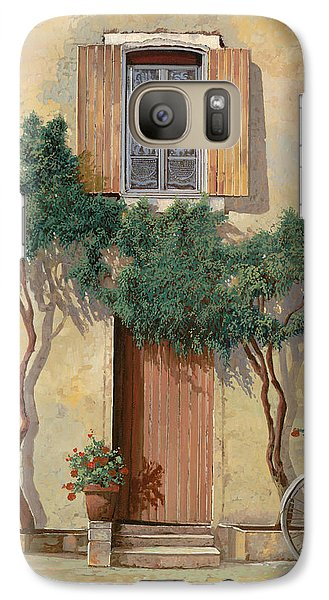 Bicycle Galaxy S7 Case - Mezza Bicicletta Sul Muro by Guido Borelli