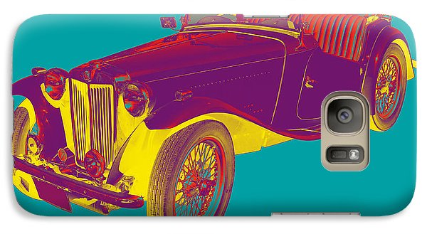 Mg Convertible Antique Car Pop Art Galaxy S7 Case by Keith Webber Jr