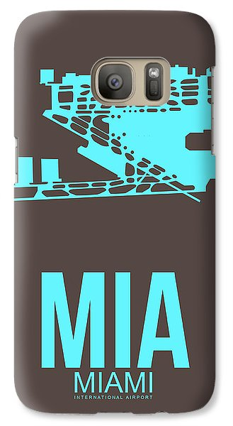 Mia Miami Airport Poster 2 Galaxy Case by Naxart Studio