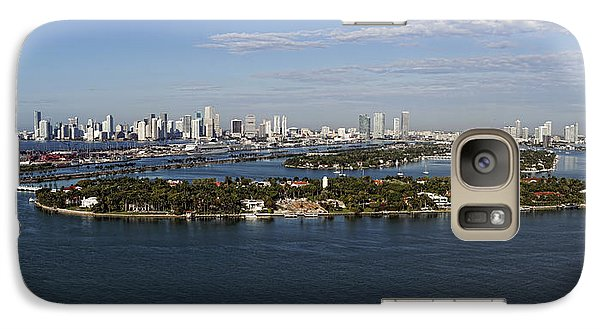 Galaxy Case featuring the photograph Miami And Star Island Skyline by Gary Dean Mercer Clark