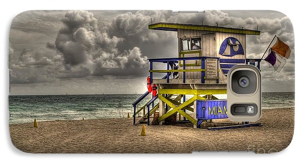 Galaxy Case featuring the photograph Miami Beach Lifeguard Stand by Timothy Lowry